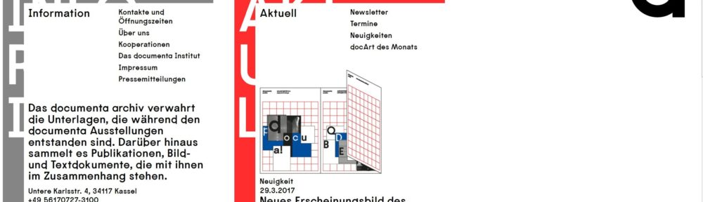 Neues Erscheinungsbild des documenta archivs